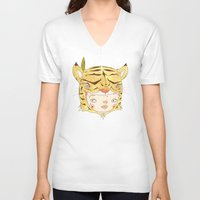 hiccup V-neck T-shirts featuring DRUNKEN TIGAAAAR by PAUL PiERROt
