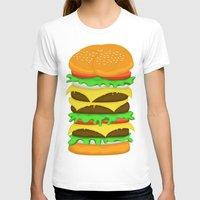 novelty T-shirts featuring Burger Sandwich by Berberism