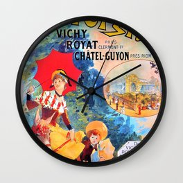Jules Cheret - Auvrergne - Digital Remastered Edition Wall Clock