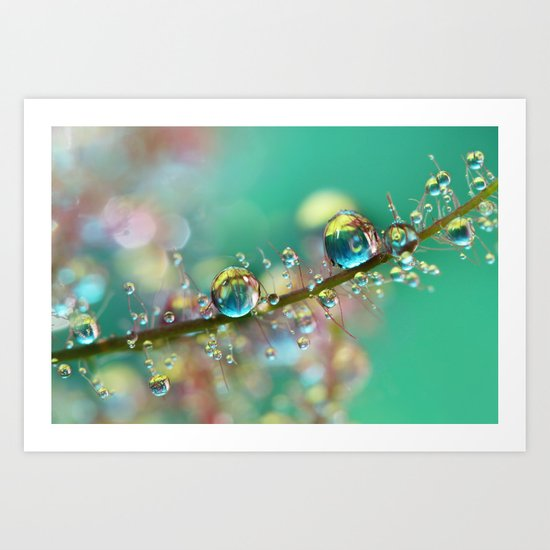 Smokey Rainbow Drops Art Print