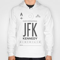 jfk Hoodies featuring JFK TAG  by Studio Tesouro