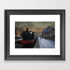 The Train Is In The Station Framed Art Print