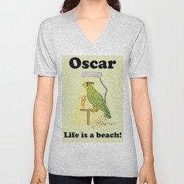 Oscar, life is a beach! Unisex V-Neck