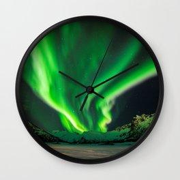 Beauty of Northern Lights Wall Clock
