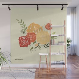 Rose Bouquet Wall Mural