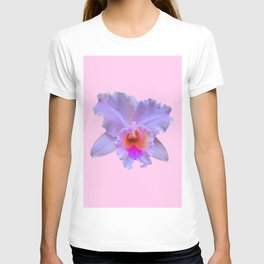 PINK ART TROPICAL CATTLEYA ORCHID FLOWER T-shirt
