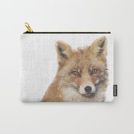 Arctic Snow Red Fox Carry-All Pouch