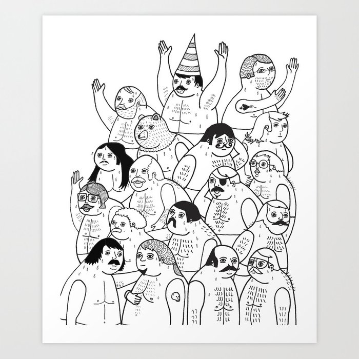 Sauna Club Art Print