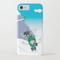 giants iPhone & iPod Cases featuring Tiny Giants by Panda Robot