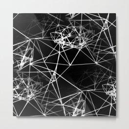 Geometric himmeli ornaments as minimal negative pattern Metal Print