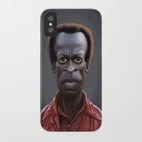 miles davis iPhone & iPod Cases featuring Celebrity Sunday ~ Miles Dewey Davis by rob art | illustration