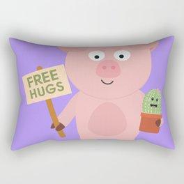 Pig with Cactus Rectangular Pillow
