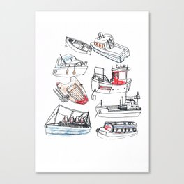 Boat Print Canvas Print