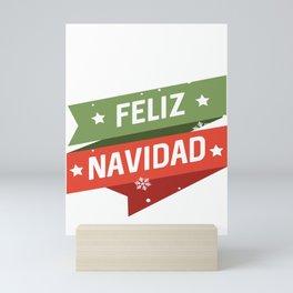 Feliz Navidad, christmas, xmas Mini Art Print