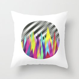 Zackenpunkt No. 3 Throw Pillow