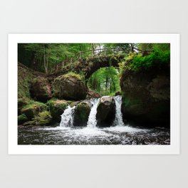 Waterfall in Luxembourg (Mullerthal) Art Print