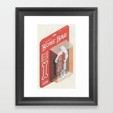 Secret Bone Bro  Framed Art Print