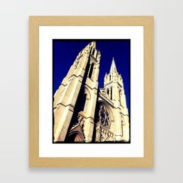 Denver Towers Over Framed Art Print