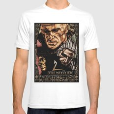 The Witcher 2 MEDIUM White Mens Fitted Tee
