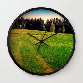 Outdoors in sunny spring Wall Clock