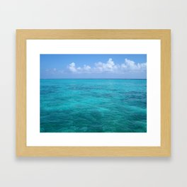 Caribbean Blues Framed Art Print