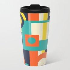 Funky Geometry (Modern Vibrant Color Palette) Metal Travel Mug