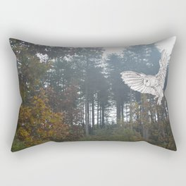 Owl in the Forest Rectangular Pillow