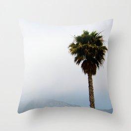 Malibu Palm Tree Throw Pillow