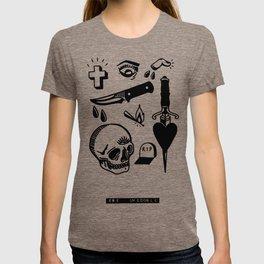Tattoo Flash Black #01 T-shirt