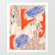 Seeing Spaces - Peach Art Print