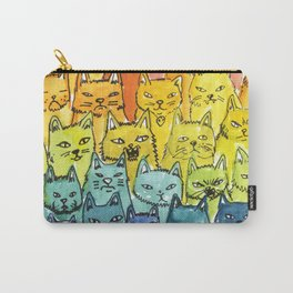 the pride cat rainbow  squad Carry-All Pouch