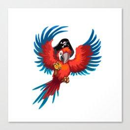 Pirate parrot Canvas Print