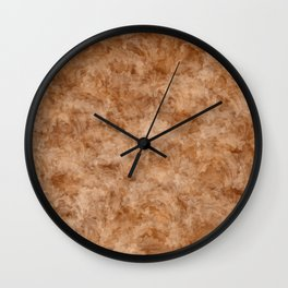 Abstract Floral Collage - Lilies in Browns Wall Clock