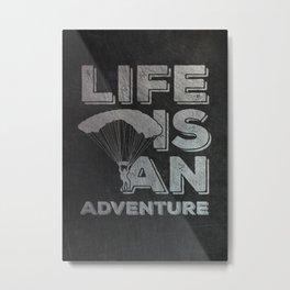 Paragliding Parachuter Skydiver Metal Print