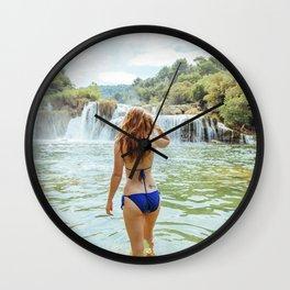 Krka Waterfalls Wall Clock
