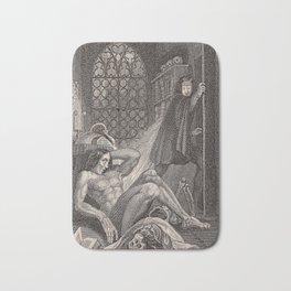 Frankenstein Mary Shelley Original Illustration Bath Mat
