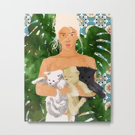 Morocco Vacay #illustration #painting Metal Print