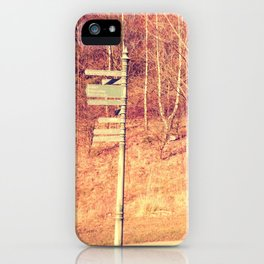 Lamp Post in the Woods iPhone Case