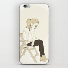 girl sitting iPhone & iPod Skin