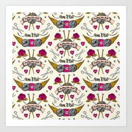 Born To Knit Art Print