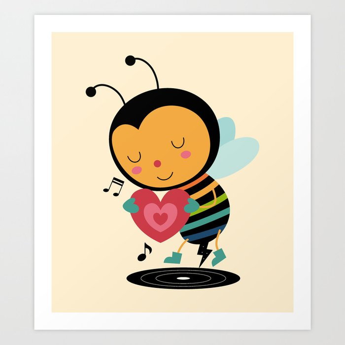 Discover the motif BEE YOURSELF by Andy Westface as a print at TOPPOSTER