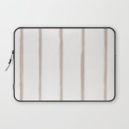 Skinny Strokes Gapped Vertical Nude on Off White Laptop Sleeve