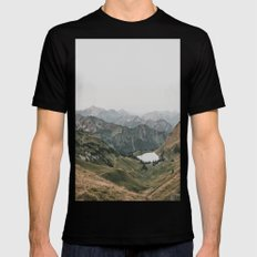 Gentle - landscape photography LARGE Black Mens Fitted Tee