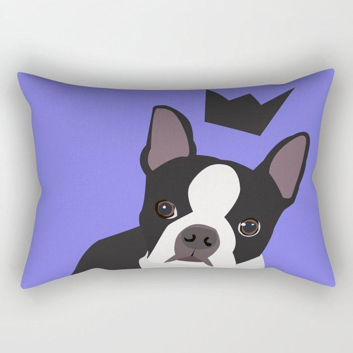 Royal Boston Terrier Rectangular Pillow