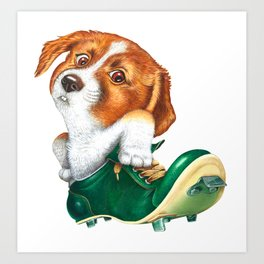 A little dog in a spike Art Print