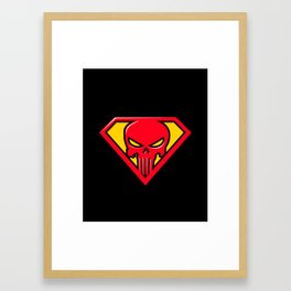 Super Punisher Logo Framed Art Print