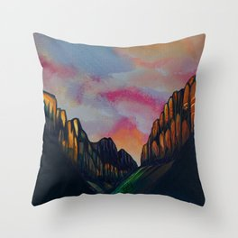 Through the Valley Throw Pillow