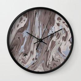 Mocha Marble Wall Clock