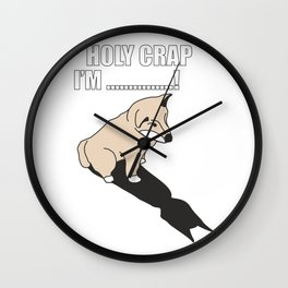 Mr Husky: Holy Crap Wall Clock