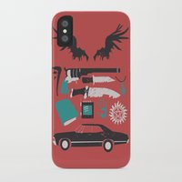 supernatural iPhone & iPod Cases featuring Supernatural by Abbie Imagine